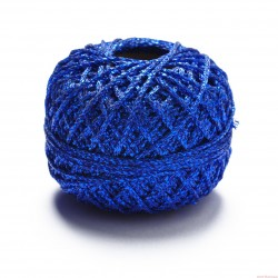 Sznurek ozdobny brokatowy szerokość 1,5mm 50m niebieski