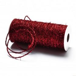 Sznurek ozdobny brokatowy szerokość 2mm 2m czerwony