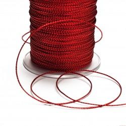 Sznurek ozdobny szerokość 1mm 2m czerwony