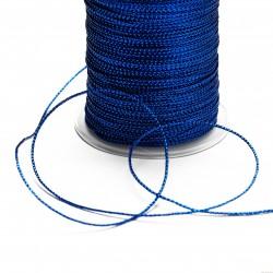 Sznurek ozdobny szerokość 1mm 2m niebieski