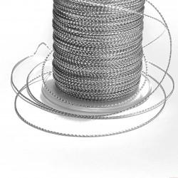 Sznurek ozdobny szerokość 1mm 2m srebrny
