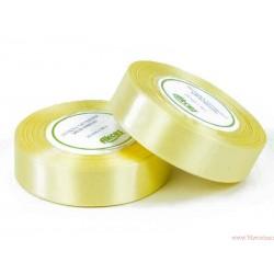 Tasiemka wstążka satynowa 25mm pastelowy żółty