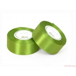 Tasiemka wstążka satynowa 38mm zielony jasny