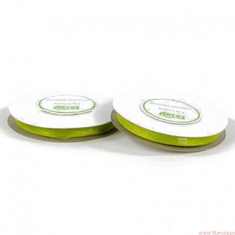 Wstążka szyfonowa 6mm rolka zielony 32m
