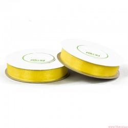 Wstążka szyfonowa 12mm rolka żółty 32m