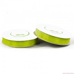 Wstążka szyfonowa 12mm rolka zielony 32m