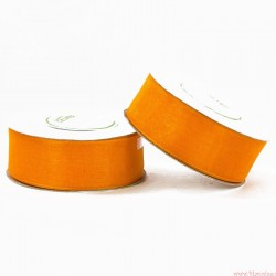 Wstążka szyfonowa 25mm rolka pomarańczowy 32m