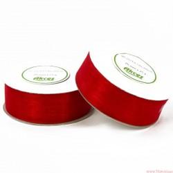 Wstążka szyfonowa 25mm rolka czerwony 32m