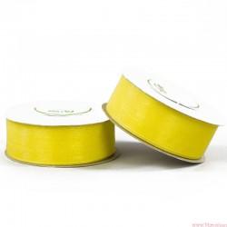 Wstążka szyfonowa 25mm rolka żółty 32m