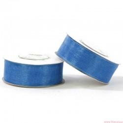 Wstążka szyfonowa 25mm rolka niebieski 32m