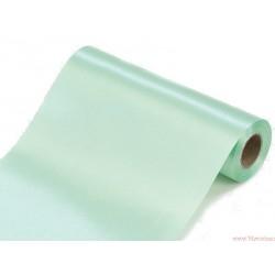 Satyna gładka 16cm pastelowy zielony