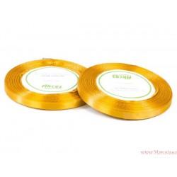 Tasiemka wstążka satynowa 6mm brudny żółty