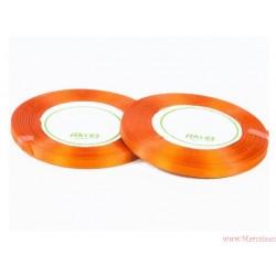 Tasiemka wstążka satynowa 6mm pomarańcz