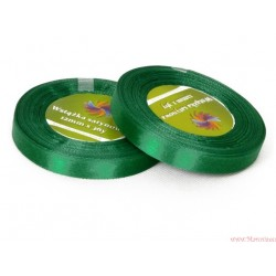 Tasiemka wstążka satynowa 12mm 32m zielony