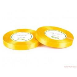 Tasiemka wstążka satynowa 12mm 32m żółty