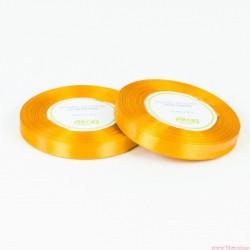 Tasiemka wstążka satynowa 12mm 32m ciemny żółty