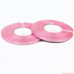 Tasiemka wstążka brokatowa 6mm 32m różowo srebrny