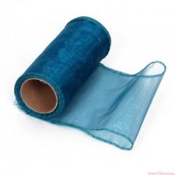 Organza obszywana 12cm niebieski