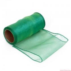 Organza obszywana 12cm zielony