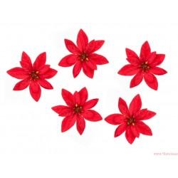 Gwiazda betlejemska 6cm 5szt czerwona