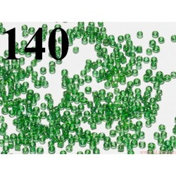 Koraliki szklane 2mm zielone transparentne z perłowym połyskiem ok 2100szt.