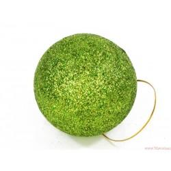 Bombki brokatowe 4cm 12szt. zielony