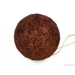 Bombki brokatowe 4cm 12szt. czekoladowy