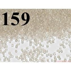 Koraliki szklane 2mm transparentne z perłowym połyskiem ok 2100szt.