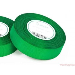Wstążka rypsowa 25mm rolka 22m zielona