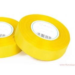 Wstążka rypsowa 25mm rolka 22m żółta