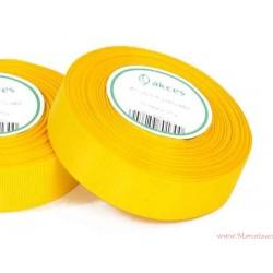 Wstążka rypsowa 25mm rolka 22m żółta ciemna