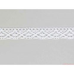 Koronka bawełniana 20mm 5yard biała