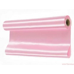 Satyna gładka 36cm różowa