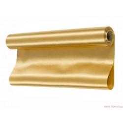 Satyna gładka 36cm złota