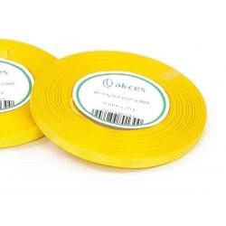 Wstążka rypsowa 6mm rolka 22m żółta