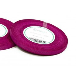 Wstążka rypsowa 6mm rolka 22m purpurowa
