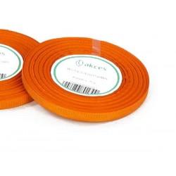Wstążka rypsowa 6mm rolka 22m pomarańczowa