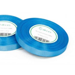 Wstążka rypsowa 12mm rolka 22m niebieska