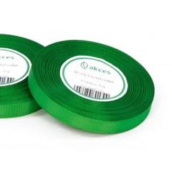 Wstążka rypsowa 12mm rolka 22m zielona