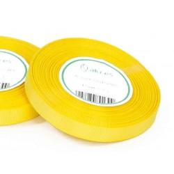 Wstążka rypsowa 12mm rolka 22m żółta