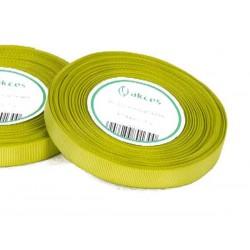 Wstążka rypsowa 12mm rolka 22m zielona jasna