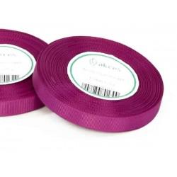 Wstążka rypsowa 12mm rolka 22m purpurowa