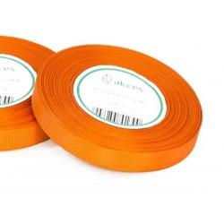 Wstążka rypsowa 12mm rolka 22m pomarańczowa