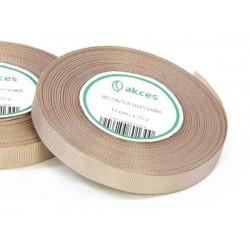 Wstążka rypsowa 12mm rolka 22m almond