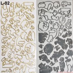 stickersy - nalepki miśki, misie (L-02)