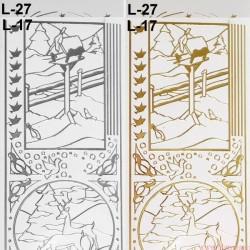 stickersy - nalepki zestaw zima (L-17)