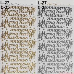 stickersy - nalepki marry christmas (L-35)
