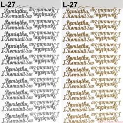 stickersy - nalepki Pamiątka Komunii Św (L-52)