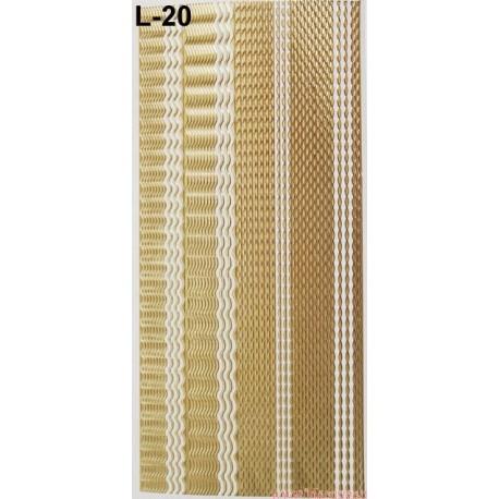 Stickersy nalepki szlaczki (L-20)