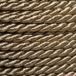 Sznurek skręcany 3,2mm 1m stare złoto